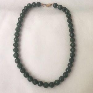 Jade 14kt Gold Necklace
